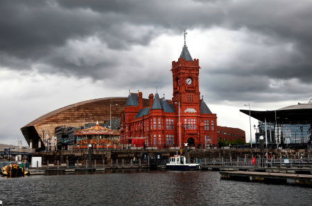 cardiff bay, port building and opera house