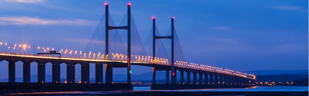The Severn Bridge, crossing to Wales from England